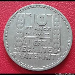 10 francs 1947 - Grosse tête