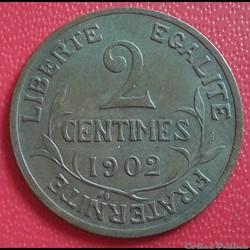 2 centimes 1902