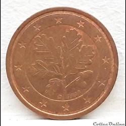 Allemagne - 2002 - D - 2 cents