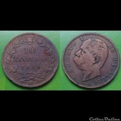 Italie - 10 centimes 1894 LB