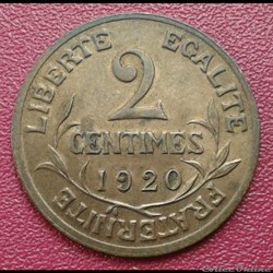 2 centimes 1920