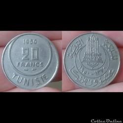 Tunisie - 20 francs 1950