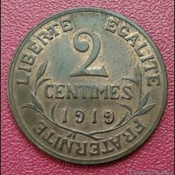 2 centimes 1919