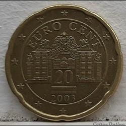 Autriche - 2003 - 20 cents