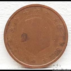 Belgique - 2000 - 2 cents