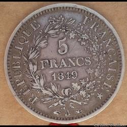 5 francs 1849 A