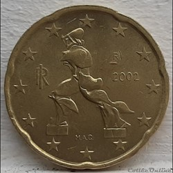 Italie - 2002 - 20 cents