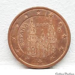 Espagne - 2008 - 5 cents