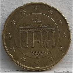 Allemagne - 2002 - D - 20 cents