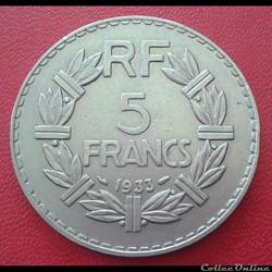5 francs 1933