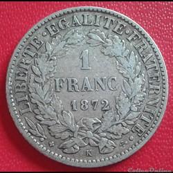 1 FRANC 1872 K