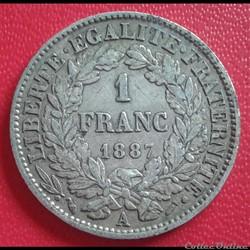 1 FRANC 1887 A