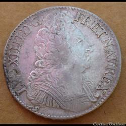 Louis XIV - Ecu aux 3 couronnes 1709