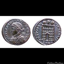 Constantius II Caesar - AE Follis réduit - PROVIDENTIAE CAESS - Trier