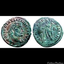 Diocletianus - AE Follis - GENIO POPVLI ROMANI - Lyon
