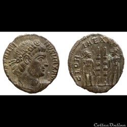 Constantine I AE reduced follis - GLORIA EXERCITVS - Trier - RIC.549