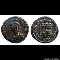 Constantius II - Ae Follis réduit - PROVIDENTIAE CAESS  - Trier