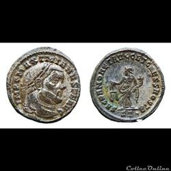 Maximianus - Æ Follis  -SACRA MONET  - Ticinum
