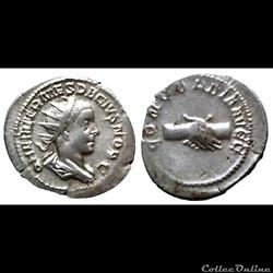 Herennius Etruscus - AR Antoninien - CONCORDIA AVGG