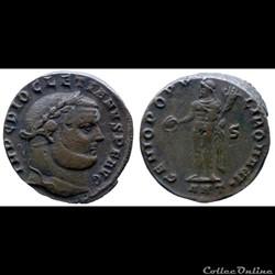 Diocletianus - AE Follis - GENIO POPVLI ROMANI - Antiochia
