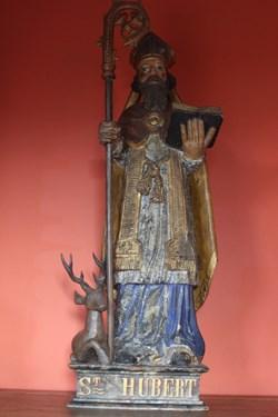 Statue en bois Polychrome
