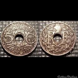 Cb 5 centimes EM Lindauer 1917 19mm 3g