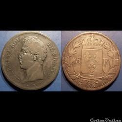 F Charles X 5 Francs 2 ème type