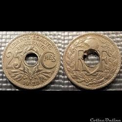 Fd 25 centimes EM Lindauer 1928 24mm 5g