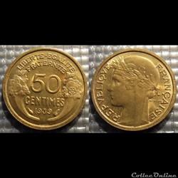 Gc 50 centimes Morlon 1939 18mm 2g