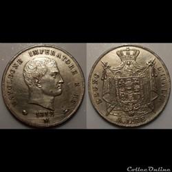 A6 5 Lire Règne d'Italie Napoléon Empere...
