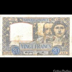 20 Francs Science et Travail France 4 Dé...