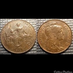 Ca 5 centimes Dupuis 1916* Madrid
