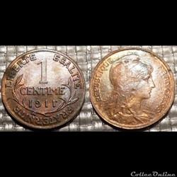 Aa 1 centime Dupuis 1911