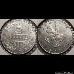 Autriche 5 Shilling 1964