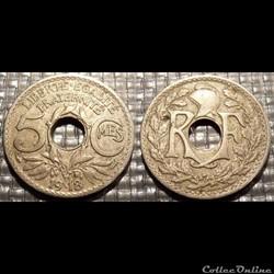 Cb 5 centimes EM Lindauer 1918 19mm 3g