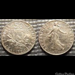 Ga 50 centimes Semeuse 1914 18mm 2.5g