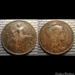 Ca 5 centimes Dupuis 1917