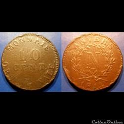 D-Napoléon I 10 Centimes siège d'Anvers ...
