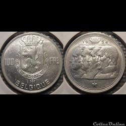 Belgique 100 Franc 1954 Belgique