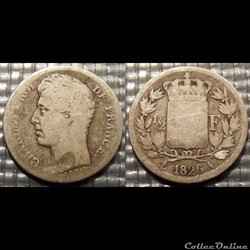 F Charles X 1/2 Franc