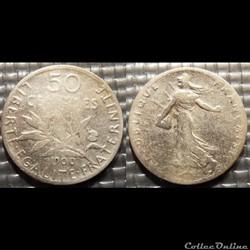 Ga 50 centimes Semeuse 1900 18mm 2.5g
