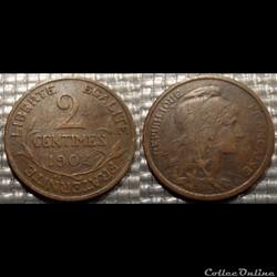 Ba 2 centimes Dupuis 1904