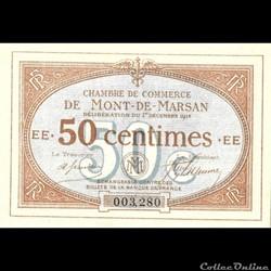 A1 50C. Chambre de Commerce de Mont de Marsan Délibération du 1 décembre 1914