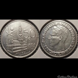 Belgique 50 Franc 1958 Der Belgen