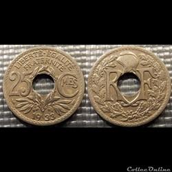 Fd 25 centimes EM Lindauer 1933 24mm 5g