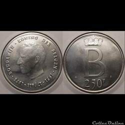 Belgique 250 Francs 1976 Der Belgen