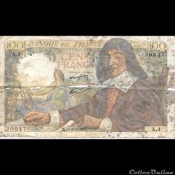 100 Francs Descartes