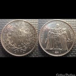 Lf 10 francs Hercule 1966 37mm 25g