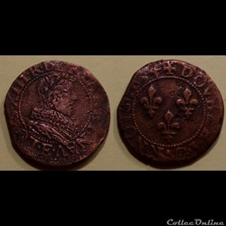 G1 Louis XIII Tours Double Tournois 1634...