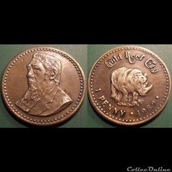 e- J etr Afrique du Sud 1 penny 1989